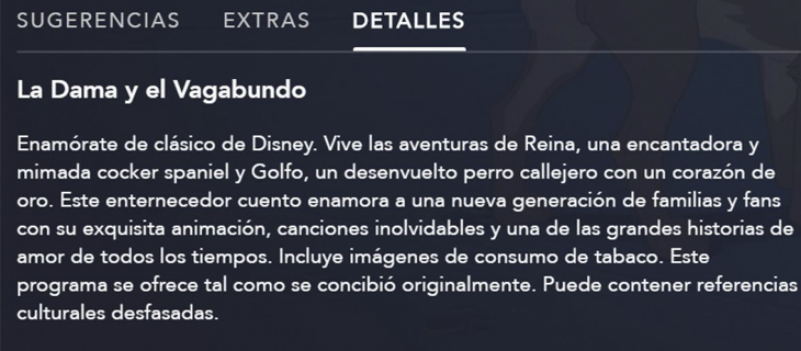 Disney + ha modificado sus producciones para colocar advertencias sobre el racismo